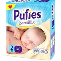 REDIS159 Scutece Pufies Sensitive Nr.2, 3-6 kg, 74 buc