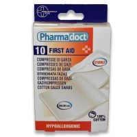 8017990140021 140021_001w Comprese sterile din bumbac, Pharmadoct First Aid, 10 Buc 30 x 30 cm