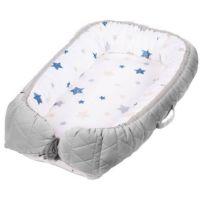 Baby Nest Klups, Klups Velvet, Gri V102