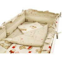 Lenjerie Mykids Teddy Toys Maro, M1, 4+1 piese, 140x70 cm