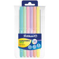 814478_001w Set carioci Pelikan Colorella Star C302, 6 culori pastel