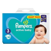Scutece Pampers Active Baby, Giant Pack, Nr 3, 6-10 kg, 90 buc.