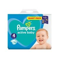 81680818_001 Scutece Pampers Active Baby, Giant Pack, Nr 4, 7-14 kg, 76 buc.