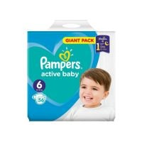 Scutece Pampers Active Baby, Giant Pack 6, 15kg+, 56 buc.
