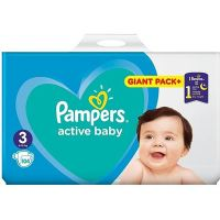 81716331_001w Scutece Pampers Active Baby, Nr 3, 6 - 10 kg, 104 buc