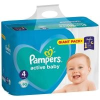 81716336_001w Scutece Pampers Active Baby, Nr 4, 9 - 14 Kg, 90 buc