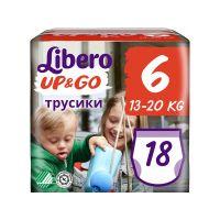 8232_001 7322541090238 Scutece chilot Libero Up&Go, Unisex, 6, XL, 13-20 kg, 18 buc