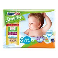 8251_001w  Scutece Babylino Sensitive, N2, 3-6 kg, 26 Buc.