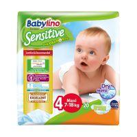 8253_001w Scutece Babylino Sensitive, N4, 7-18 kg, 20 Buc.