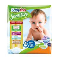 8254_001w Scutece Babylino Sensitive, N4+, 9-20 kg, 19 Buc.
