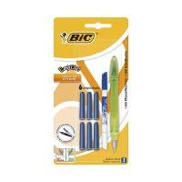 8838575 Verde Stilou cu 6 rezerve si mini pic Easy Clic Standard Bic, Verde