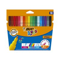 888681_001w Set markere colorate lavabile Visa Bic, P18