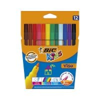888695_001w Set markere colorate lavabile Visa Bic, P12