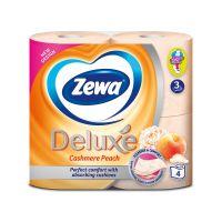 3276_001w Set hartie igienica Zewa Deluxe Cashmere peach, 3 straturi, 4 role