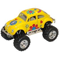 Masinuta metalica de off-road Kinsmart, Volkswagen Beetle, Galben
