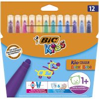 9020801_001w Markere colorate Kid Couleur Baby Bic, 12 culori