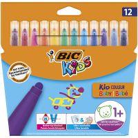 9020801_001w Markere colorate Kid Couleur Baby Bic, 12 culori