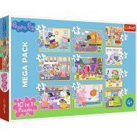 Puzzle 10 in 1, Trefl, Fa cunostinta cu Peppa Pig (48, 35 si 20 piese)