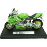 911342 Verde Motocicleta cu lumini si sunete Unika Toy, Verde, 13 cm