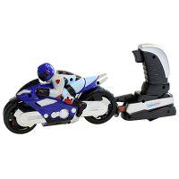 911533_001w Motocicleta cu figurina si lansator Unika Toy, Albastru