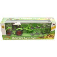 912020_004w Tractor cu plug Unika Toy, Verde