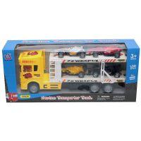 Camion cu 4 masinute Unika Toy, Galben