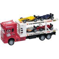 Camion cu 4 masinute Unika Toy, Rosu