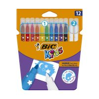 9202962_001w Set markere colorate lavabile Colour Erase Bic, P12