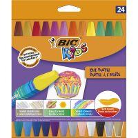 926447_001w Creioane cerate Pastel Bic, 24 culori