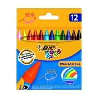 927829_001w Set creioane cerate Wax Crayons Bic, P12