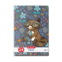 9475880_001w Caiet Tip 2 Herlitz, A5, 24 file, Cute Animals Premium