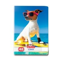9480650_001w Caiet patratele Herlitz, A5, 48 file, Cool Dog