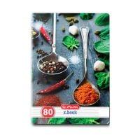 9480810_001w Caiet dictando Herlitz, A5, 80 file, Spices