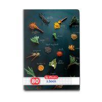 9480820_001w Caiet patratele Herlitz, A5, 80 file, Spices