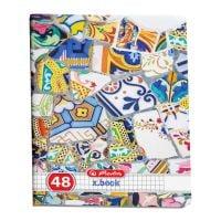 9480860_001w Caiet patratele Herlitz, A4, 48 file, Mozaic