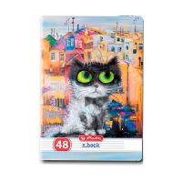 9484240_001w Caiet dictando Herlitz, A5, 48 file, Crazy Cats