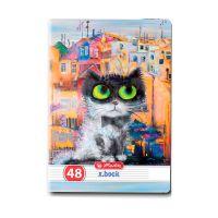 9484240_001w Caiet dictando Herlitz, A5, 48 file, Crazy Cats