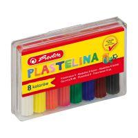 9562919_001w Set economic pilastilina Herlitz, 8 culori, cutie plastic