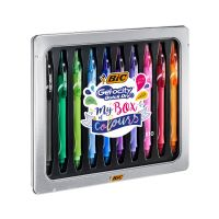 972040 Set trusa pixuri cu gel Bic - Gel-Ocity Quick Dry My Box Of Colours