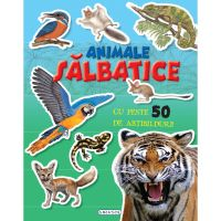 9786060241577 EG1577_001w Carte cu abtibilduri Cauta si lipeste, Animale salbatice