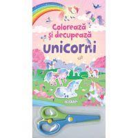 9786060241669 EG1669_001w Coloreaza si decupeaza Unicorni roz