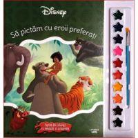 Sa pictam cu eroii preferati carte de colorat cu pensule si acuarele, Disney