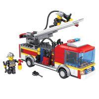INT4838_001w Jucarie de constructie Micul Constructor - Masina de pompieri
