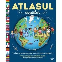 CEDIV119_001w Atlasul Copiilor - 15 harti de dimensiuni mari si peste 300 de fotografii