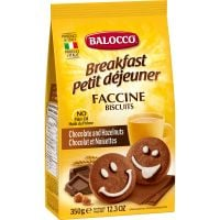 B116_001w Biscuiti cu ciocolata si alune Balocco Faccine, 350 g