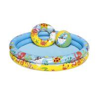 Set piscina gonflabila cu 2 inele Bestway, 122 x 20 cm