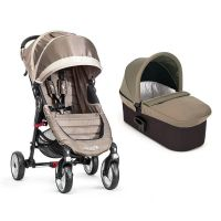 Carucior Baby Jogger City Mini 4 Sand Stone, Sistem 2 In 1
