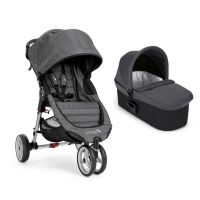 Carucior Baby Jogger City Mini 3 Charcoal Denim, Sistem 2 In 1