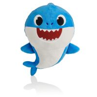 BS1003_002w Jucarie de plus Baby Shark - Rechin, Albastru, 16 cm