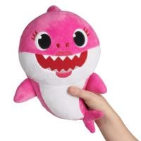 BS1003_003w Jucarie de plus Baby Shark - Rechin, Roz, 16 cm